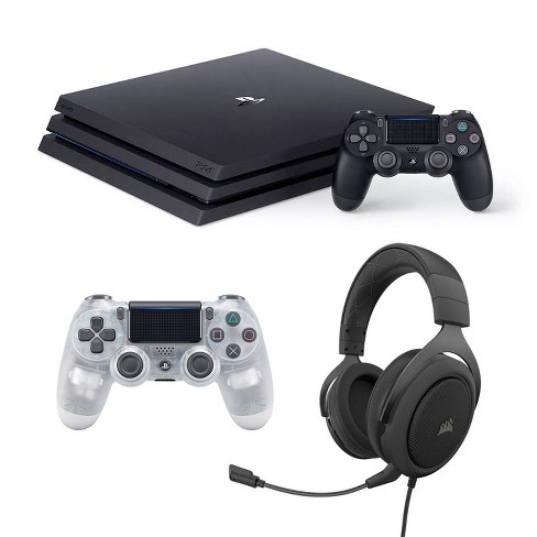 PlayStation 4 1 TB Pro Gaming Headset and Crystal DualShock 4 Bundle - image 1 of 4