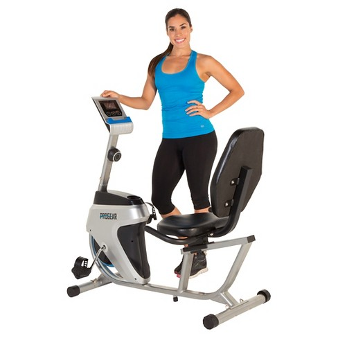 PROGEAR 555LXT Magnetic Tension Recumbent Bike with Goal Setting Computer