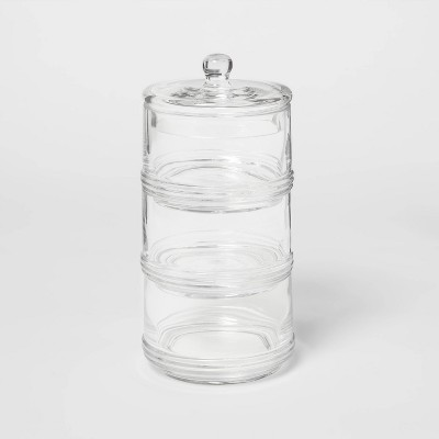 Tiered Canister Apothecary Glass Clear - Threshold™