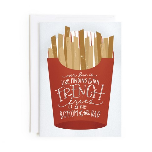 Minted French Fries Card - image 1 of 1