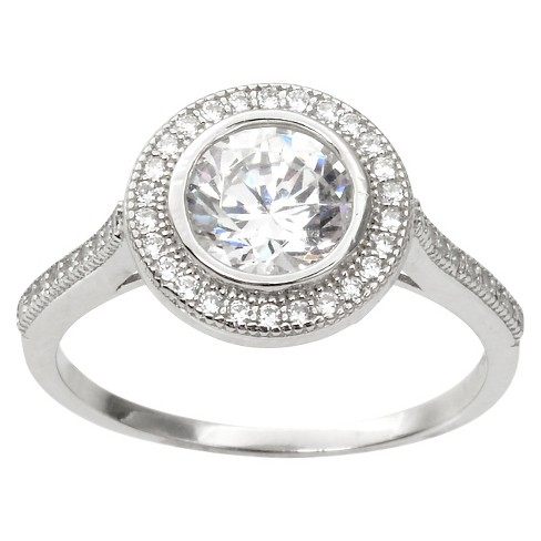 2 CT. T.W. Round Cut CZ Pave Set Halo Ring in Sterling Silver - Silver - image 1 of 2