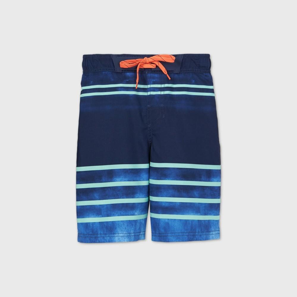 Discounts Boys' Tie-Dye Striped Swim Trunks - Cat & Jack™