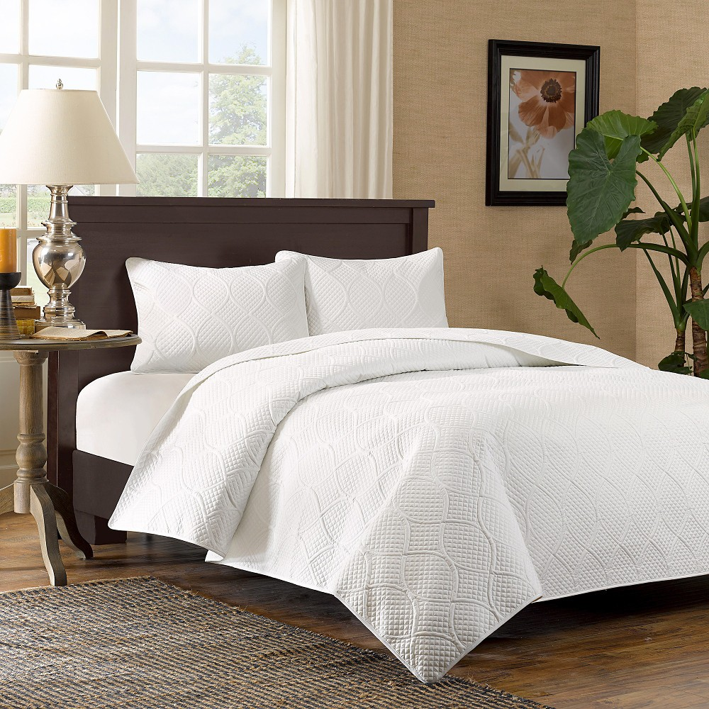 Margaux 3 Piece Coverlet Set - White (King/California King)