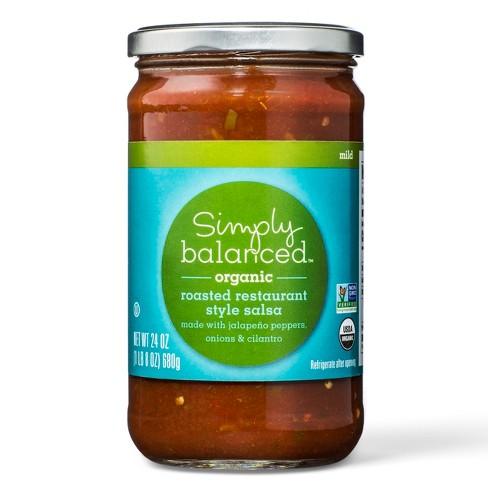 Organic Roasted Restaurant Style Salsa Mild 24oz - Simply Balanced™ - image 1 of 1