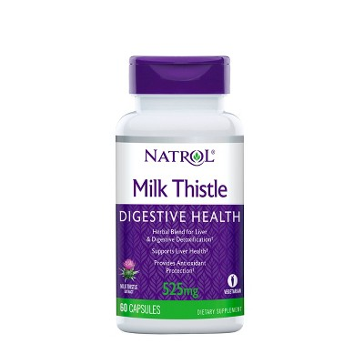 Natrol Milk Thistle Digestive Health Dietary Supplement Capsules - 60ct
