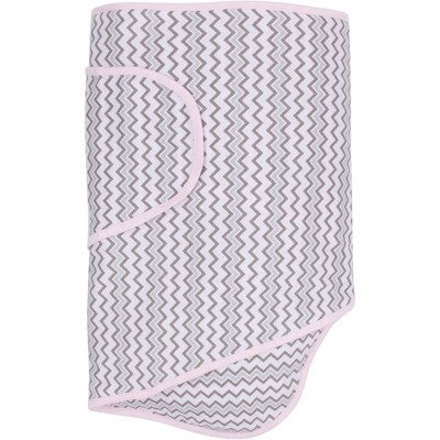 Miracle Blanket Swaddle Wrap Pink Chevron