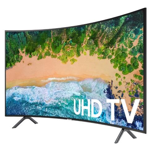 Samsung 55 Smart Curved Uhd Tv Black Un55nu7300fxza Target