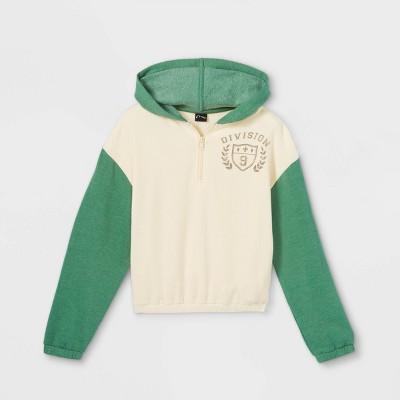 Girls' Colorblock Quarter Zip Sweatshirt - art class™