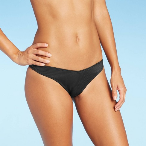 Juniors' Ribbed V-Cheeky Bikini Bottom - Xhilaration™ - image 1 of 4