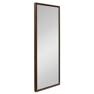 """16"""" x 48"""" Evans Framed Wall Panel Mirror Walnut Brown - Kate and Laurel"""