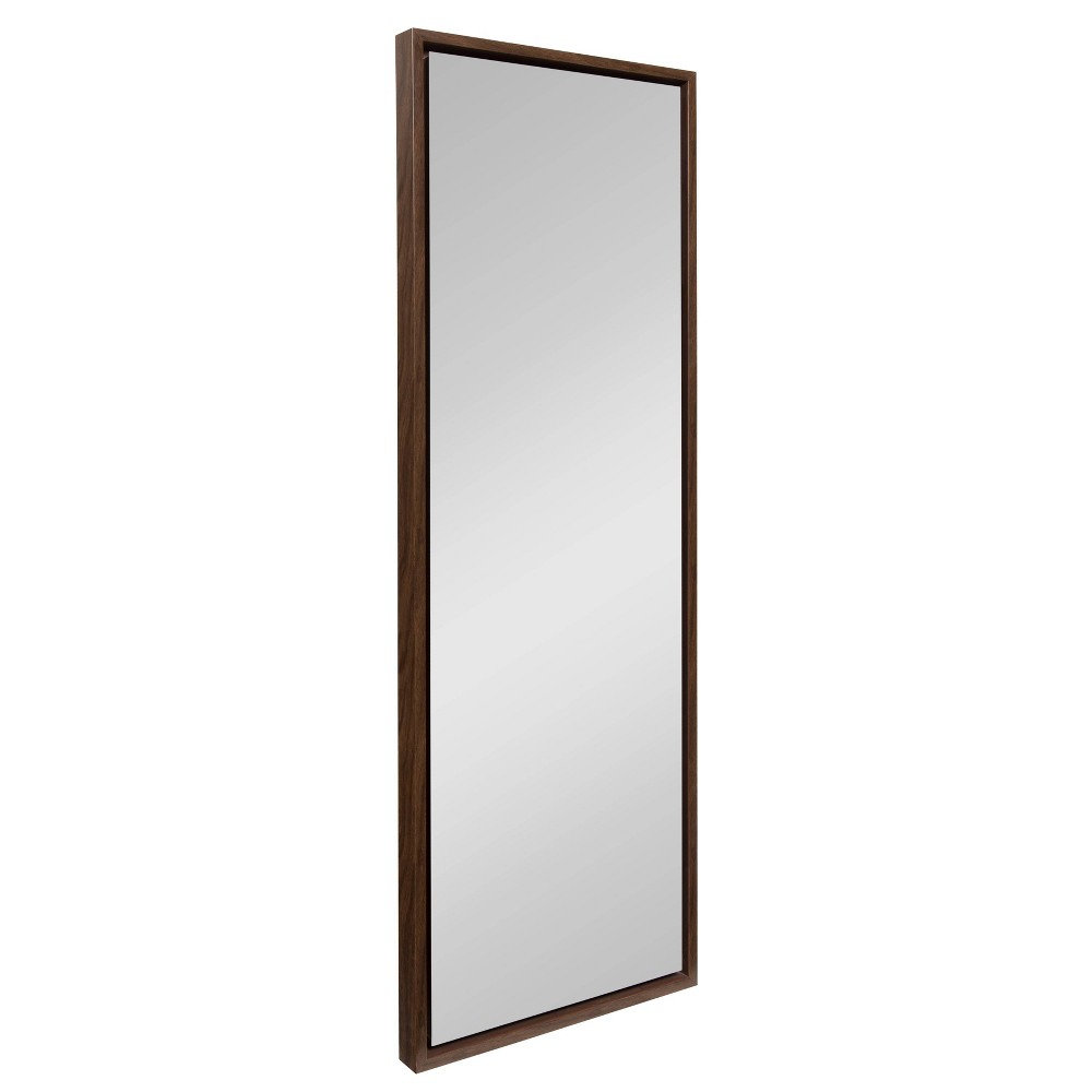 "Image of ""16""""x48"""" Evans Framed Wall Panel Mirror Walnut - Kate and Laurel, Brown"""