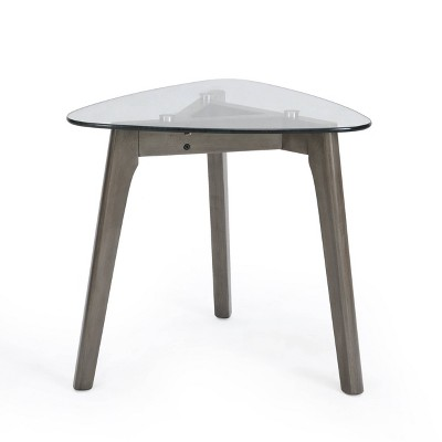 Wasco Mid-Century Modern End Table with Glass Top - Christopher Knight Home