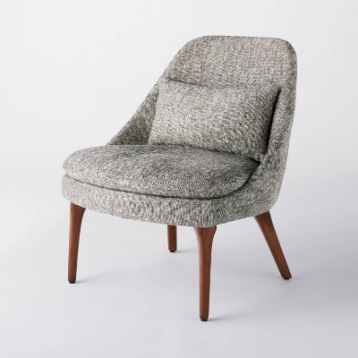 Burnsville Accent Chair with Pillow Textured Woven Gray/White - Threshold™