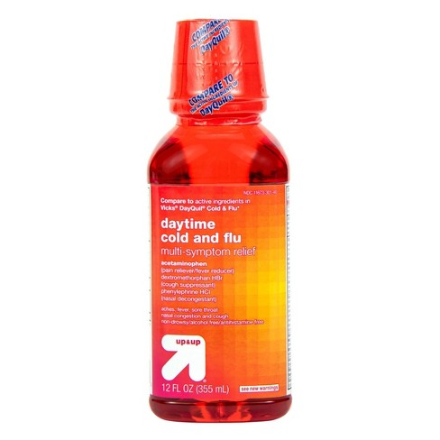 Daytime Cold & Flu Multi-symptom Relief Liquid - 12 fl oz - Up&Up™ - image 1 of 4