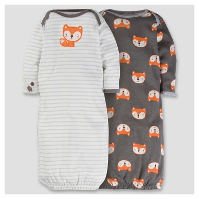 Baby Boys' 2pk Cotton Gown - Fox 0-6M - Gerber®