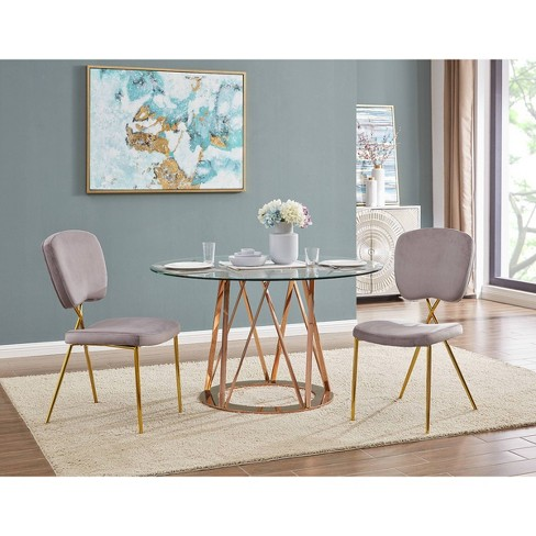 Set Of 2 Cris Dining Chairs Blush Chic Home Design Target