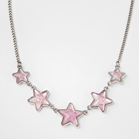 Girls' Reversible Necklace - Cat & Jack™ Light Pink - image 1 of 4
