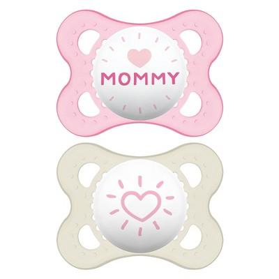 MAM Love & Affection Pacifier 0-6 Months - 2ct Pink