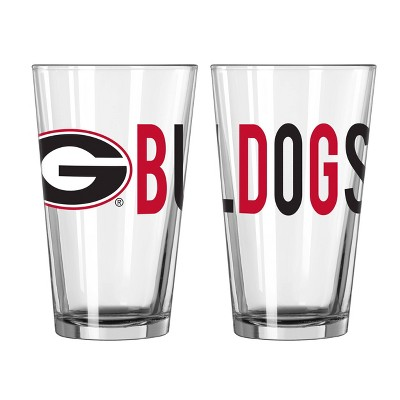 NCAA Georgia Bulldogs Overtime Pint Glass - 16oz