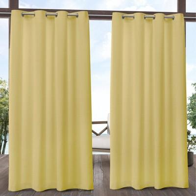 Biscayne Grommet Top Light Filtering Window Curtain Panels - Exclusive Home