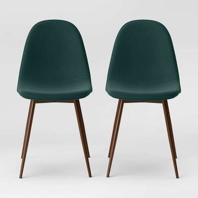 2pk Copley Upholstered Dining Chair Forest Green - Project 62™