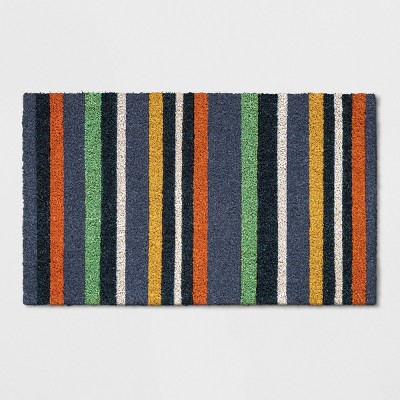 Blue Multi Stripe Doormat 1'6 x2'6  - Threshold™