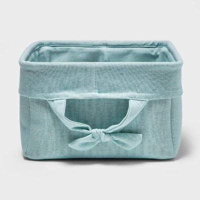 Decorative Storage Bin with Side Tie Medium - Cloud Island™ Mint