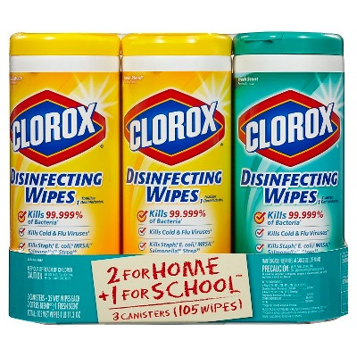 Clorox Scented Disinfecting Wipes Value Pack - 3pk/105ct