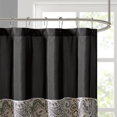Wellington Paisley Jacquard Polyester Shower Curtain