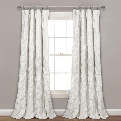 "84""x52"" Ravello Pintuck Window Curtain Panel - Lush Décor"