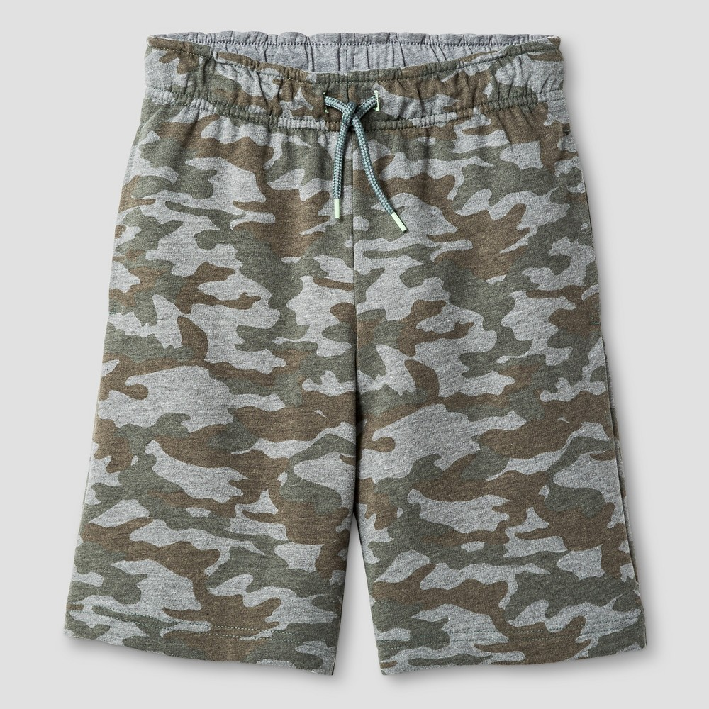 Boys' Pull-On Shorts - Cat & Jack Green Camo XS