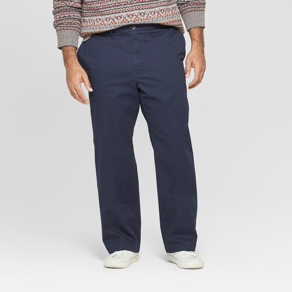 Men's Big & Tall Straight Fit Hennepin Chino Pants - Goodfellow & Co Navy 48x30, Blue