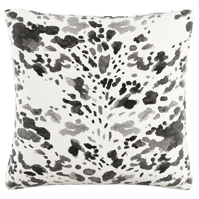 Black /White Cow Polyester Throw Pillow (20 x20 )- Skyline Furniture®