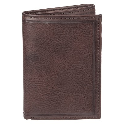 0fcbaf96d753 Men s Trifold Heat Crease   Stitch Wallet - Goodfellow   Co™ Brown ...