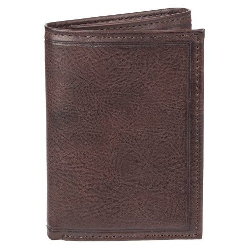 Men's Trifold Heat Crease & Stitch Wallet - Goodfellow & Co™ Brown One Size - image 1 of 4