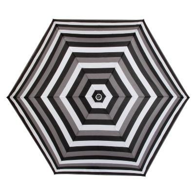 ShedRain Auto Open/Close Compact Umbrella  - Black Stripe