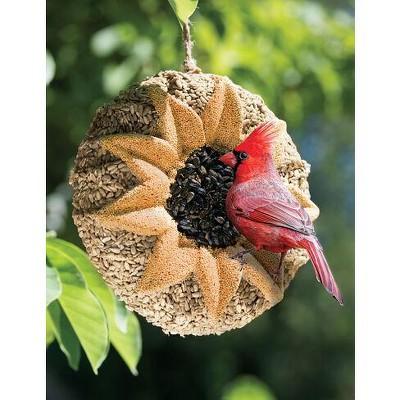 Songbird Tweets® Sunflower Wreath - Gardener's Supply Company