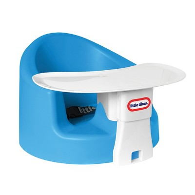 Little Tikes LT32001 My First Seat Baby Infant Foam Cushion Floor Support Seat Chair with Feed and Play Tray Combo for Feeding and Playing, Blue