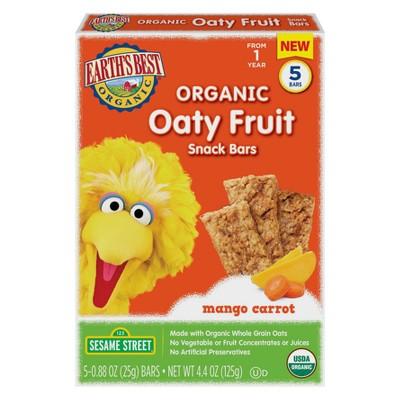 Baby & Toddler Snacks: Earth's Best Oaty Fruit Snack Bars