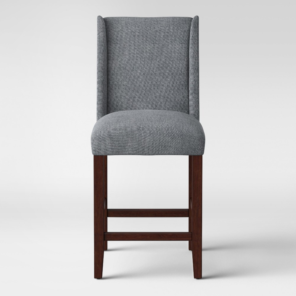 24 Lowell Modified Wingback Counter Stool Charcoal (Grey) - Threshold