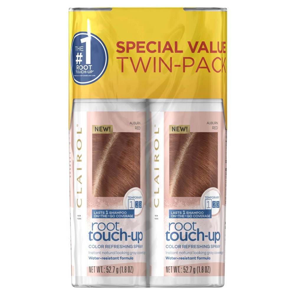 Image of Clairol Root Touch-Up Color Refreshing Spray Twin Pack - Auburn Red - 3.6oz