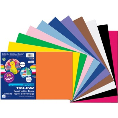 Tru-Ray Sulphite Construction Paper, 12 x 18 Inches, Assorted Color, 120 Sheets