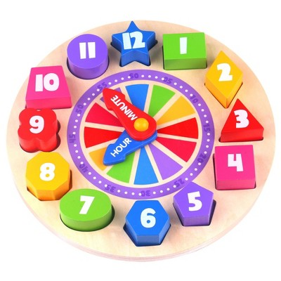 Fat Brain Toys What Time Is It? Glow-In-The-Dark Clock Puzzle FB168-1