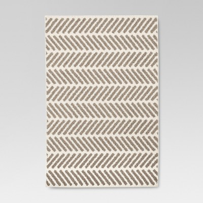 Neutral Chevron Accent Kitchen Rug (2'6 X3'10 )- Threshold™