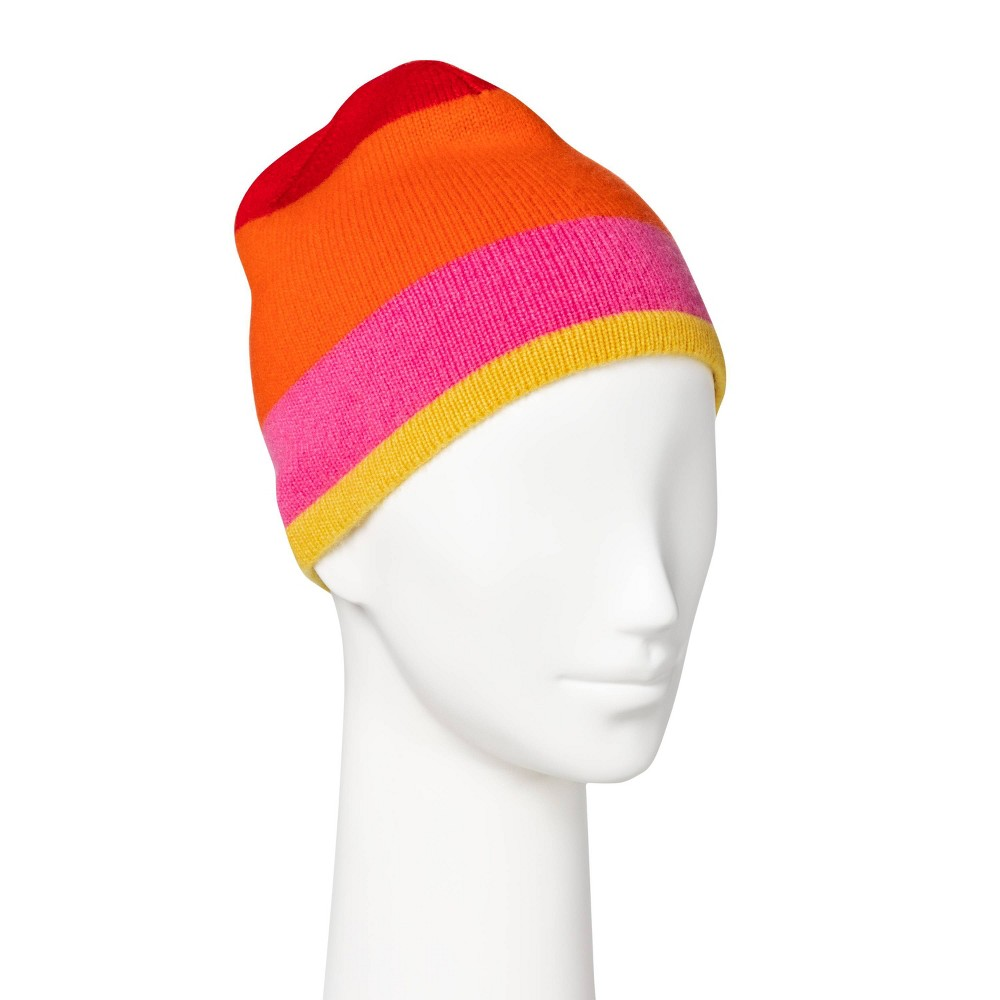 Image of Women's Colorblock Hat - Isaac Mizrahi for Target Pink/Orange, Girl's, Size: Small, Orange Pink