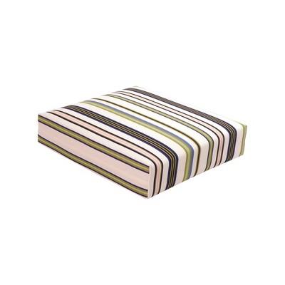 Outdoor Woven Seat Cushion DuraSeason Fabric™ Green Stripe - Threshold™