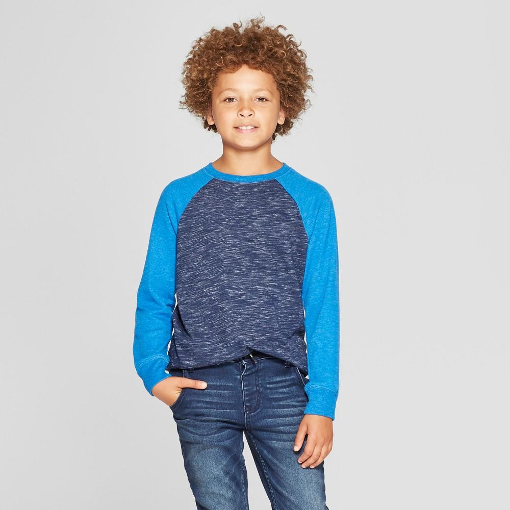 Boys' Thermal Long Sleeve T-Shirt - Cat & Jack Navy Heather XS