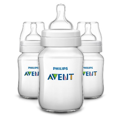 Philips Avent Anti-colic Baby Bottle 260ML/9oz 3pk - Clear