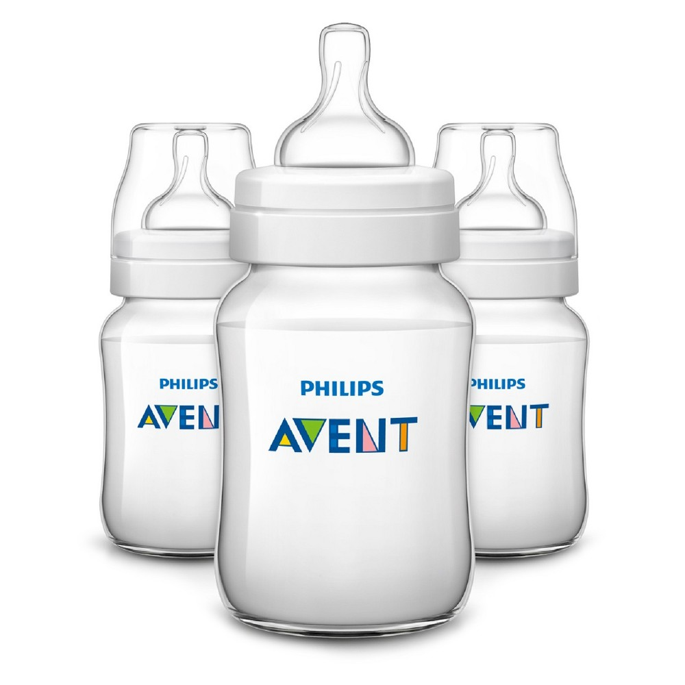 Philips Avent 3pk Anti Colic Baby Bottle 4oz - Clear