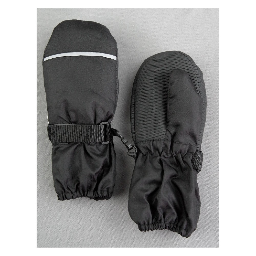 Toddler Boys' Elbow Mittens - Cat & Jack Black 2T-5T